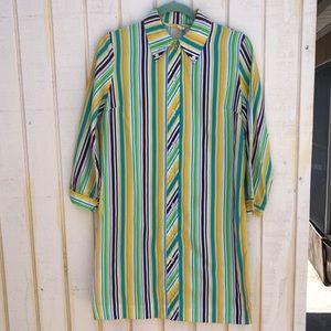 Vintage stripe shirt dress